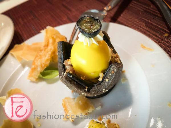 百香茉莉塔 (Jasmine tea tart with granadilla mousse)