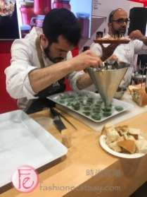 Chef Alvaro Villasante in action at SIAL- North America's biggest Food & Wine Trade Show from Spain