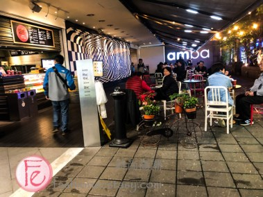 Amba西門町意舍酒店一樓室外座位 (Amba Hotel Ximen Taipei patio)