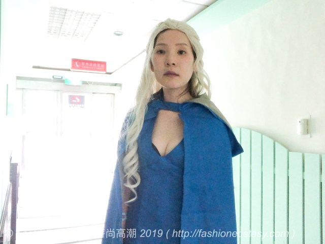 殘編扮「權力遊戲/ 冰與火之歌」中「龍母」丹妮莉絲cosplay 道具服