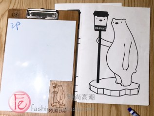 Polar Cafe點餐白板 / Polar Cafe's white board for orders MRT Ximen flagship store