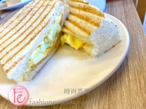 "禚食樂Just Love早午餐餐廳「蛋沙拉起司帕尼尼」(蛋奶素、$70元)/ Just Love Restaurant's ""egg-salad cheese panini ($70NT)"