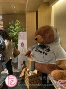 穿著超大尺碼Roots T恤的加拿大大型灰熊(棕熊)巨型娃娃 / Bear wearing plus-size Roots T-shirt