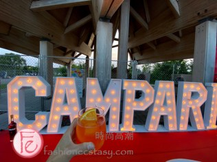 Campari booth at ICFF (Italian Contemporary Film Festival)'s 10th Anniversary Open Air Cinema at Ontario Place's Trillium Park / ICFF意大利當代電影節在安大略廣場的Trillium Park公園舉辦露天電影院慶祝10週年