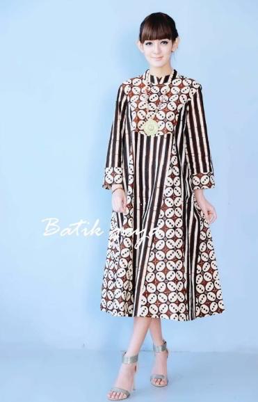 13 Model Baju Lurik Wanita Modern Kombinasi Terbaik 2019