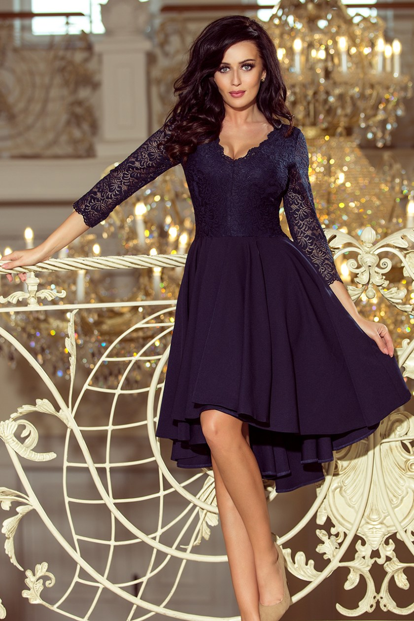 cocktail dress nude navy blue -