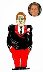 Valentino Garavani Fashion Icon Over Size I LOVE FAT Art Painting Cartoon Illustration Satire Beauty Humor Chic by aleXsandro Palombo