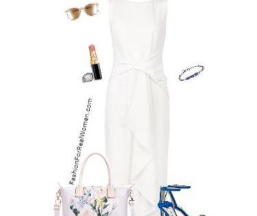 White dress for summer