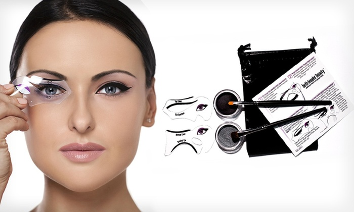 ... eye look using these simple steps below. eyeliner stencil