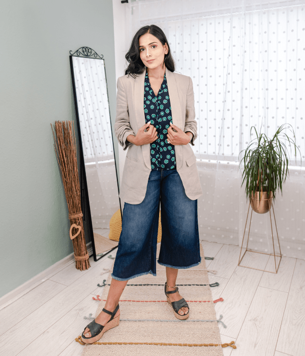 culottes with blazer