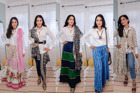 How to style white shirt in indo-western ways
