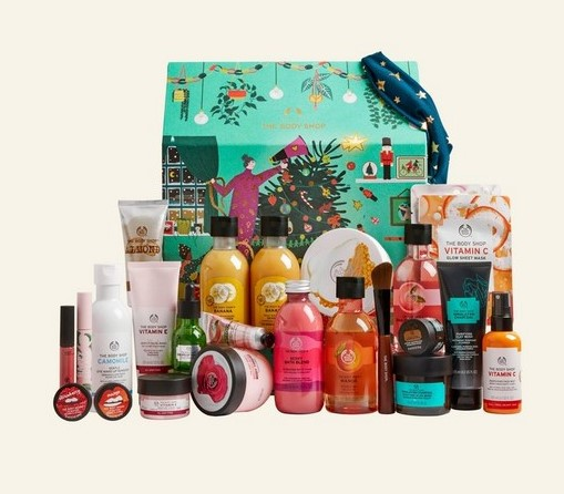 The body shop christmas advent calender