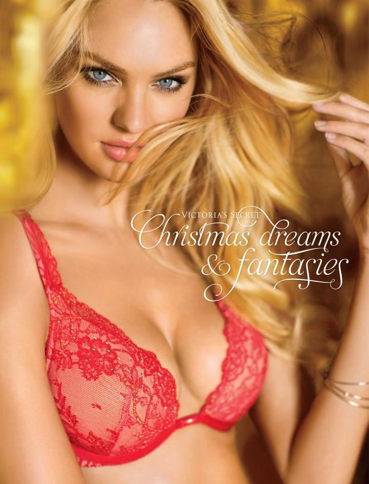 vs1 Candice Swanepoel, Erin Heatherton and Lindsay Ellingson Model the Victorias Secret Christmas Collection