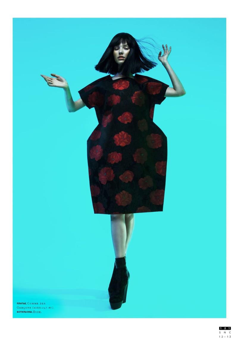 Sasha Luss Models Eastern Style For Nikolay Burykovs SnC
