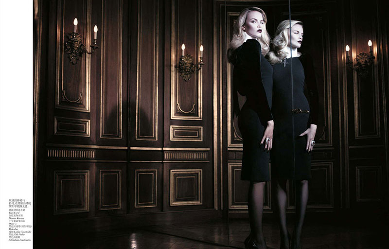 Наташа willy2 Наташа Поли является Очаровательные в Vogue China ноябрь 2012 Вилли Вандерпер