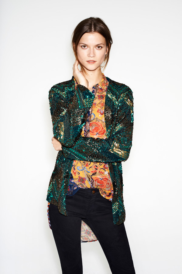zara1 Kasia Struss Models Zaras December 2012 Lookbook