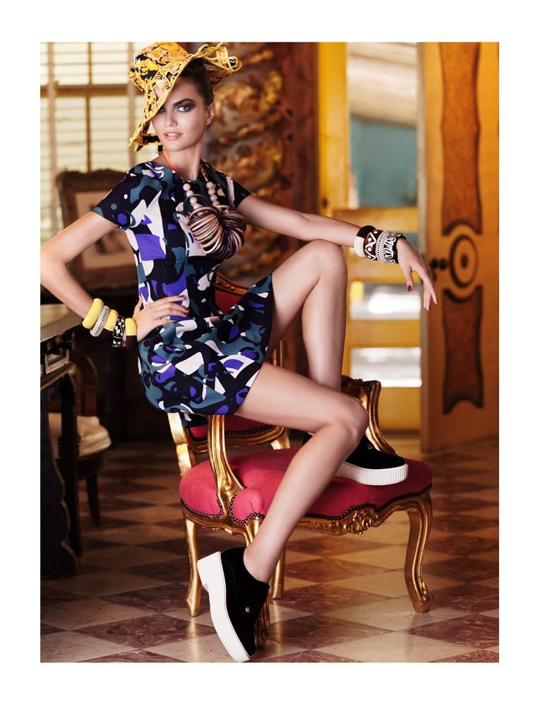 BarbaraElle10 Barbara Fialho Gets Tropical for Elle Mexico January 2013, Shot by Danny Cardozo