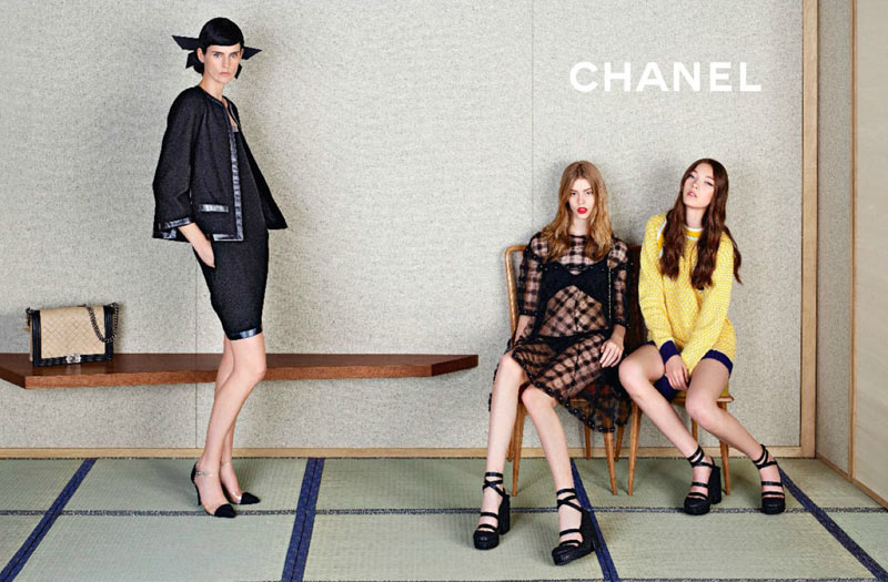 ChanelSpring4 Chanel Looks East for its Spring 2013 Campaign Starring Stella Tennant, Ondria Hardin and Yumi Lambert