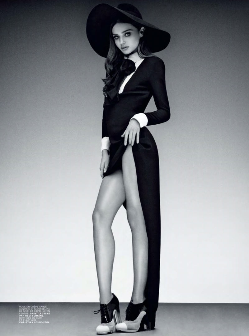 MirandaJalouse3 Miranda Kerr is Retro Glam for the February Cover Shoot of Jalouse