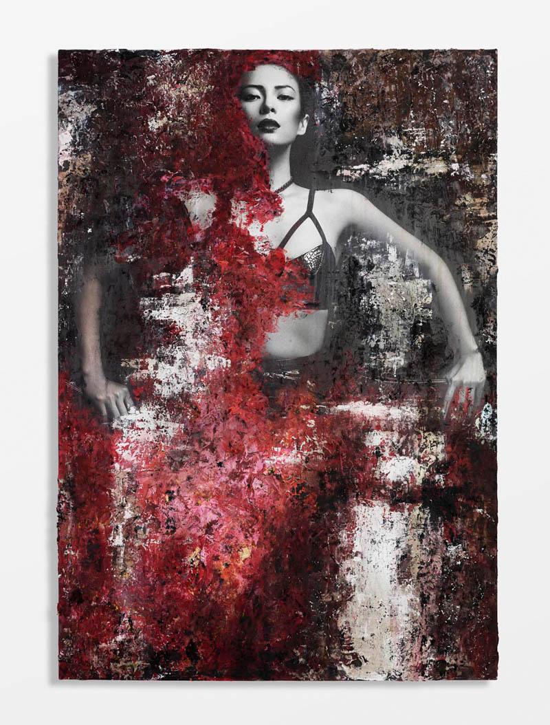 ZhangZiyi by hunterandgatti 01 Zhang Ziyi Gets Painted for Flaunt Magazine by Hunter & Gatti