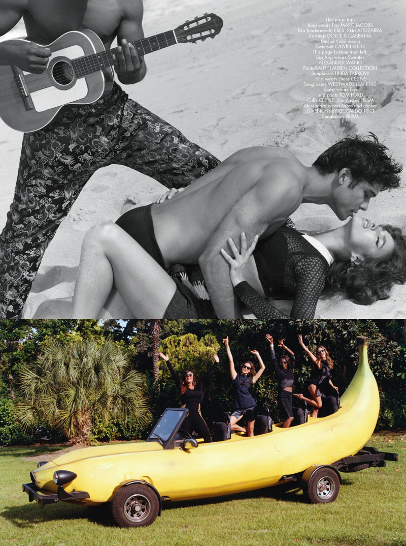 cr magazine bruce weber9 Alessandra Ambrosio and Irina Shayk Head to Miami with Bruce Weber for CR Fashion Book