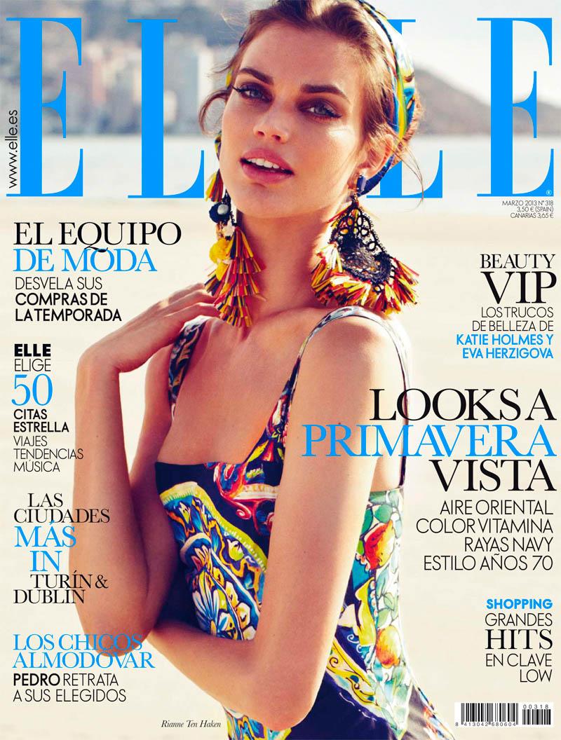 rianne ten haken elle spain10 Rianne ten Haken Poses for Xavi Gordo in Elle Spains March 2013 Cover Shoot