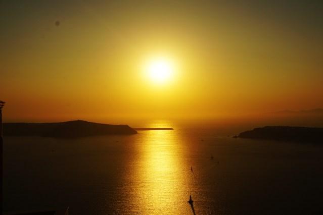 sunset imerovigli greece