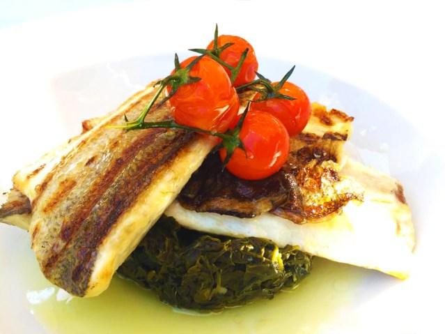 grilled swordfish kamari seaside hotel