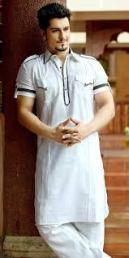 Half Sleev Kurta Pajama Nihal Fashions