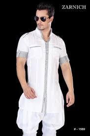 Half Sleeved Designer Kurta Pajama