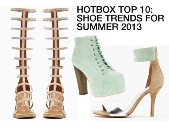 HotBox Top 10: Shoe Trends for Summer