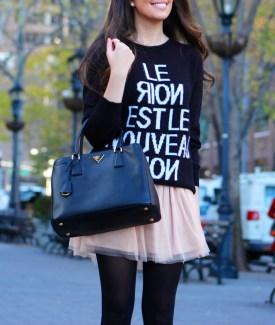 Stalk My Style: Tulle Ballerina Skirt & Big Comfy Sweater