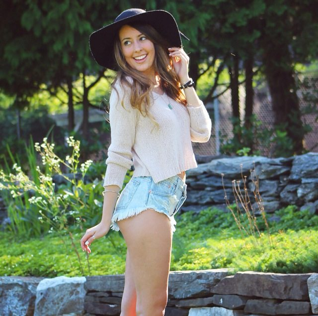 perfect summer outfit denim shorts brandy melville