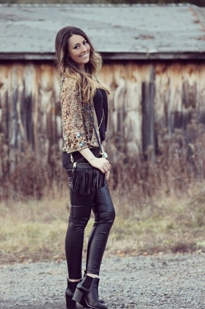 Sequins and Leather Always Go Together
