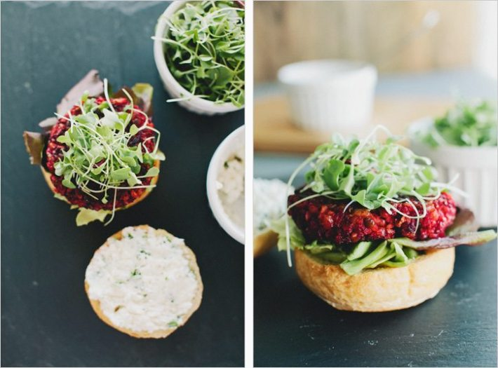 Smoky Beet Burger and other healthy recipes from top food bloggers and instagrammers!