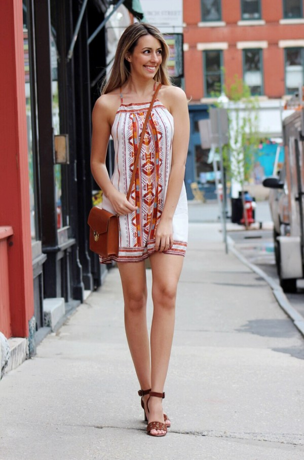 little mini summer dress & comfortable spring sandals