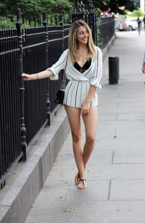 Four Unique Ways to Style Bralettes - Under a Romper