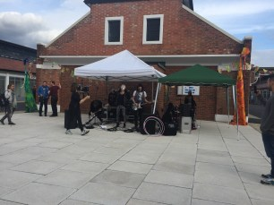 Band playing @ Eastern Ave Seintion Street, Nottingham