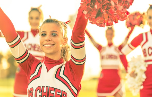 Cheerleader-with single focus