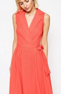 Asos Sleeveless linen midi dress