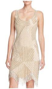 Aidan Mattox Bead Embellished Dress