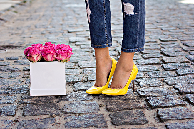 All-Your-Questions-About-High-Heels-Answered-close-up-on-yellow-heels