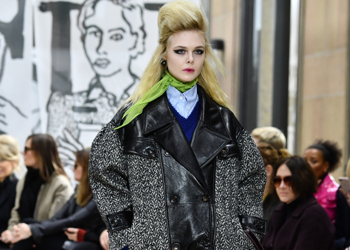Miu Miu Fall 2018 Collection at PFW Elle Fanning