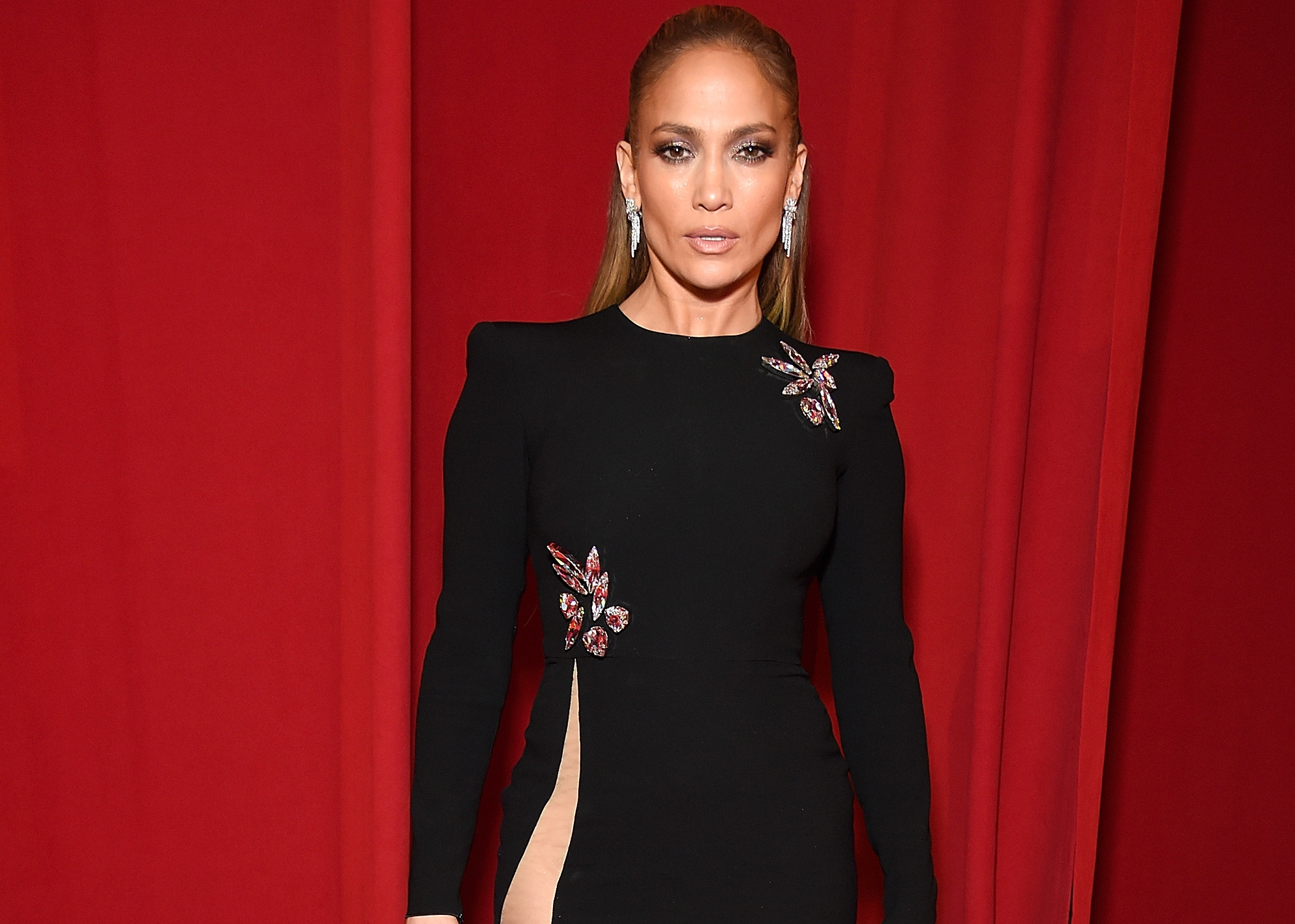 Jennifer Lopez Wore a Dress With The Highest Slit Seen on The red Carpet