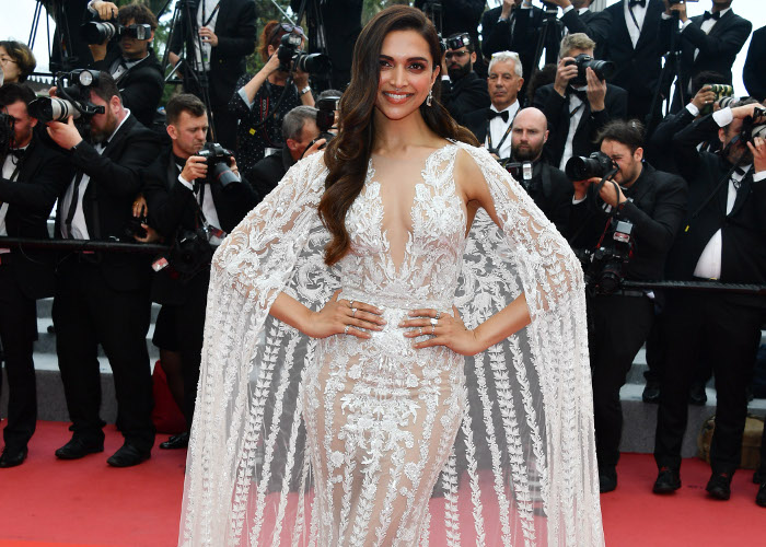 Two Actresses Hit The Red Carpet in Nearly Identical Sheer Dresses in Cannes Deepika Padukone