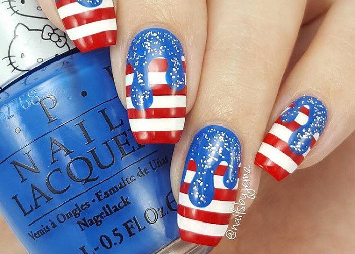4th Of July Nail Inspo to Celebrate Independence Day with Style (18)