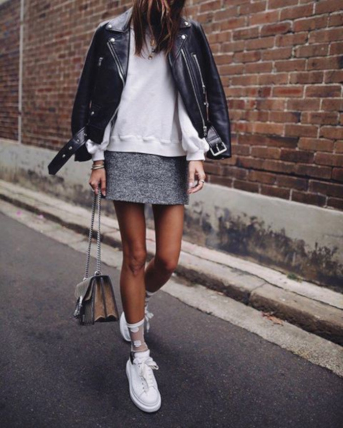 Go-From-Casual-to-Chic-in-a-Sweatshirt-skirt-biker-jacket-and-sweatshirt