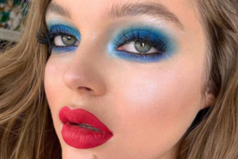 Colorful Eyes is The Hottest Summer Makeup Trend blue makeup