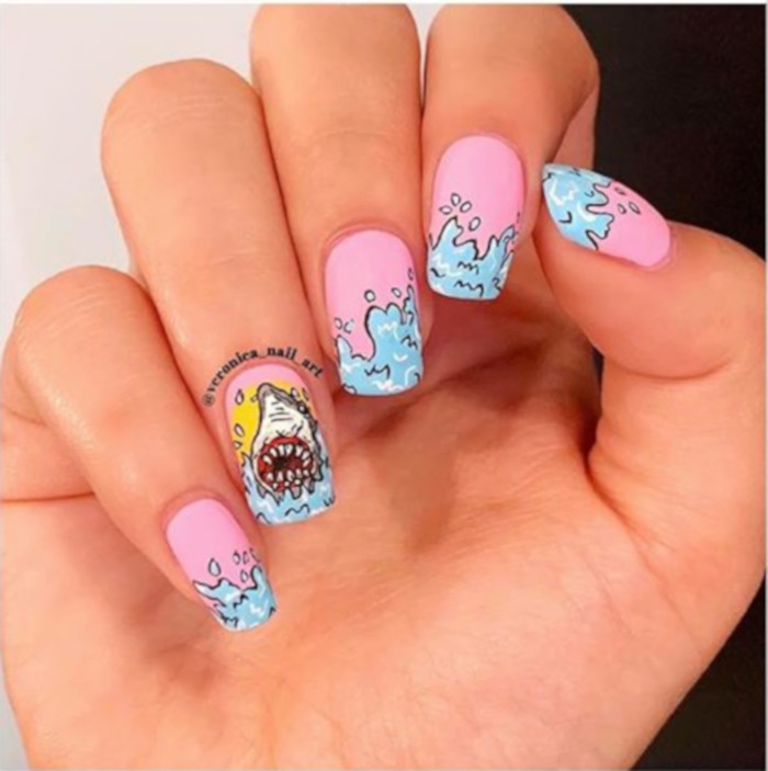 Shark Week Nail Art is A Trend We Never Saw Coming