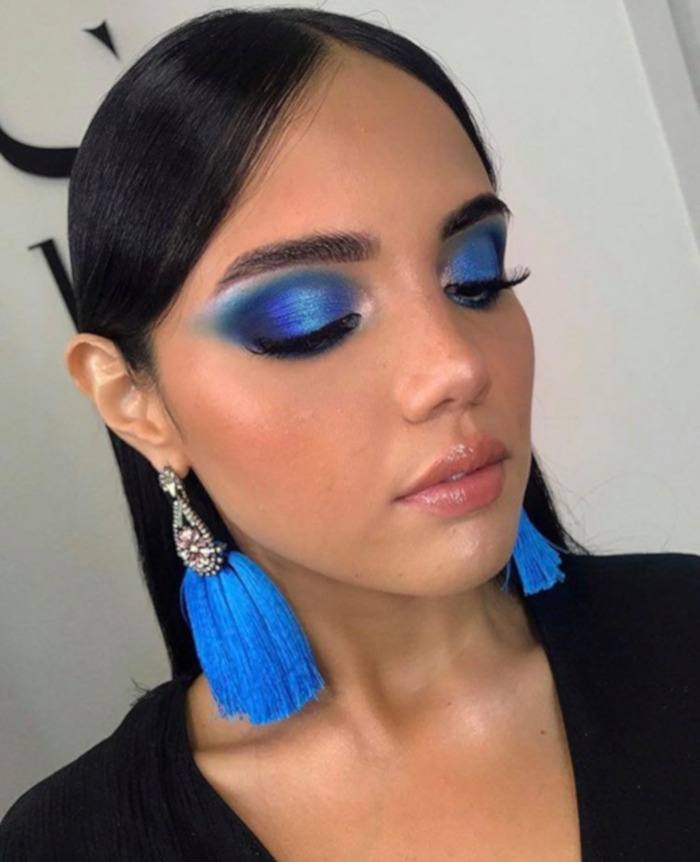 pantone 2020 color of the year classic blue makeup looks